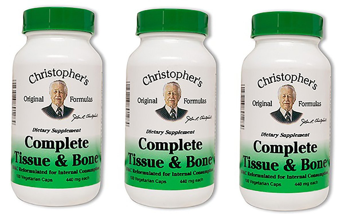 Dr. Christopher's Complete Tissue and Bone Formula 100 VegCap (pack of 3)