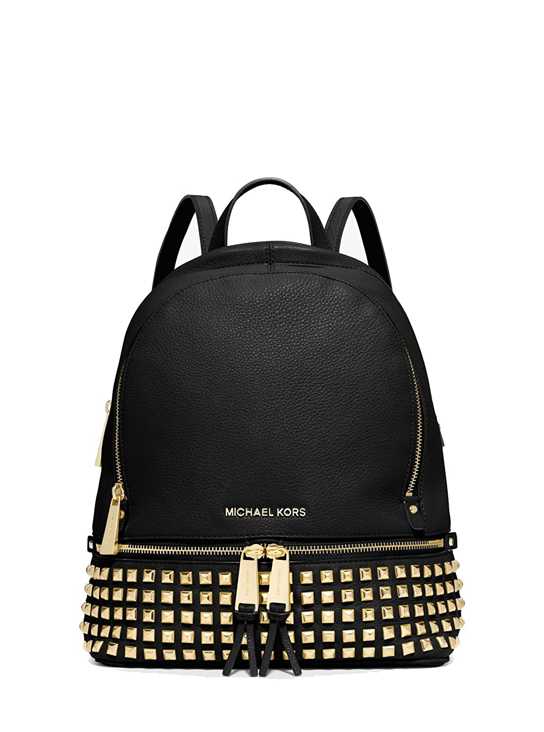 [マイケルマイケルコース] MICHAEL MICHAEL KORS RHEA ZIP SMALL STUDDED BACKPACK 30S5GEZB5L 3color (BLACK) [並行輸入品] B071CYGTH9
