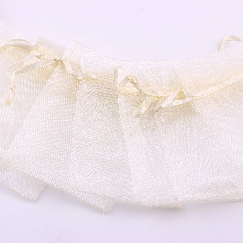 Bolsos de Lazo de Organza Jewelry Pouches Wrap para la Fiesta de la Boda de Navidad Oro SXUUXB 100 PCS 30x40cm Bolsas de Regalo de Organza