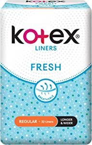 Kotex Fresh Longer and Wider Feminine Care Liners, 32ct