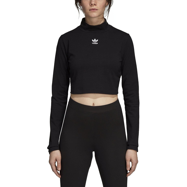 44ac3ef305 adidas Originals Women's Turtle Neck Long Sleeve Crop Top