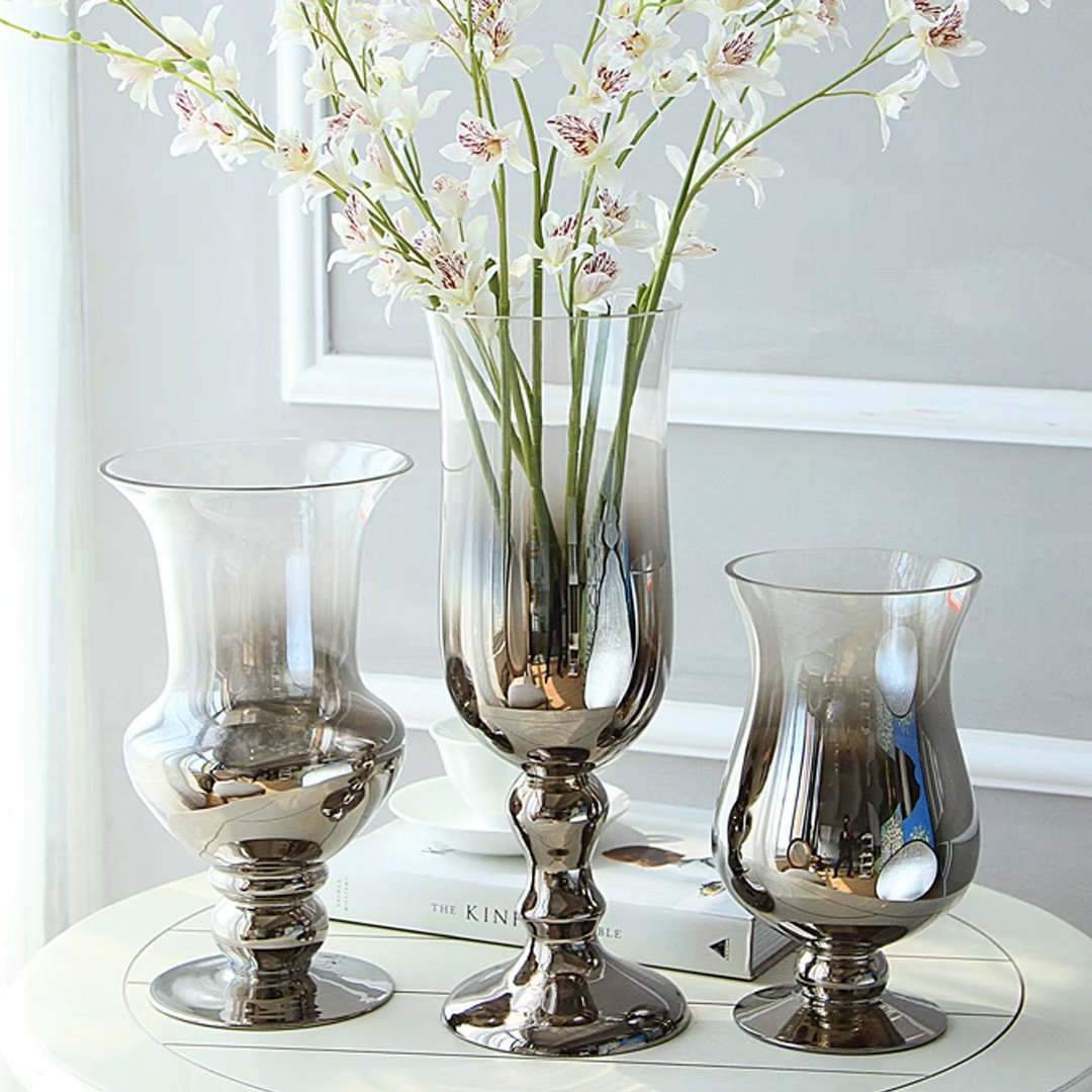 YKFN ギフト おしゃれ インテリア フラワーベース 花瓶 花器 ガラス 新築祝い 結婚祝い お洒落 クリスタル 贈り物 B0716BDMK5 口径13.5x高さ25cm  口径13.5x高さ25cm