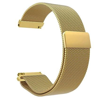Zolimx Para Xiaomi Huami Amazfit Bip Smartwatch Acero Inoxidable Amazfit Bip Correa Reloj (Oro)