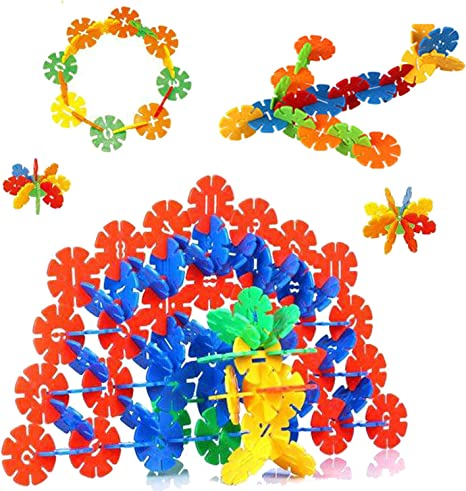 Creative Kids Flakes Large 1400 Piece Interlocking Plastic Disc Set For Kids