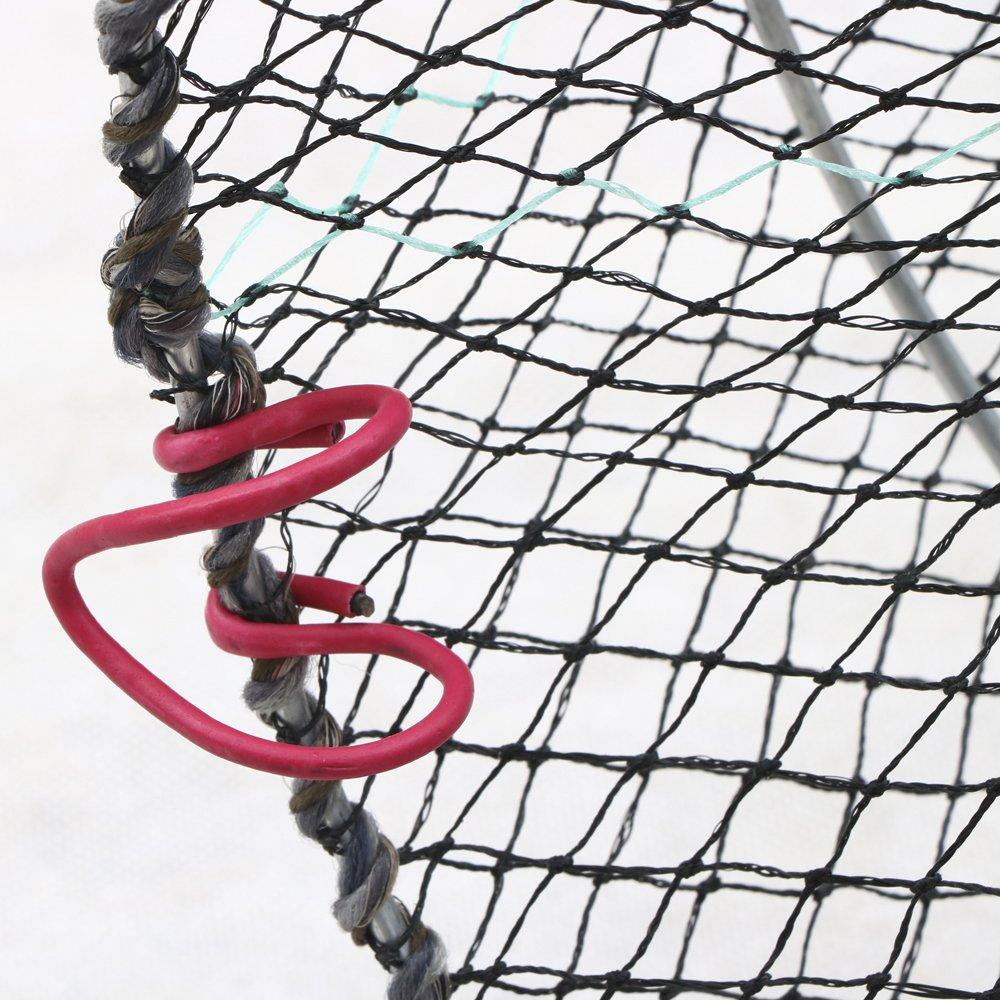 Krebse tinkertonk/ Aale f/ür die Netzfischerei; Schwarz Zusammenklappbare Reuse f/ür Krabben Hummer Garnelen