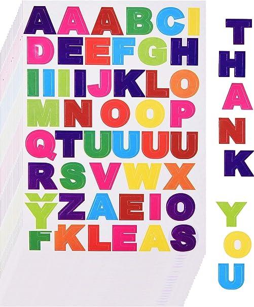 Lot sticker sticker alphabet uppercase letters many size /& colour