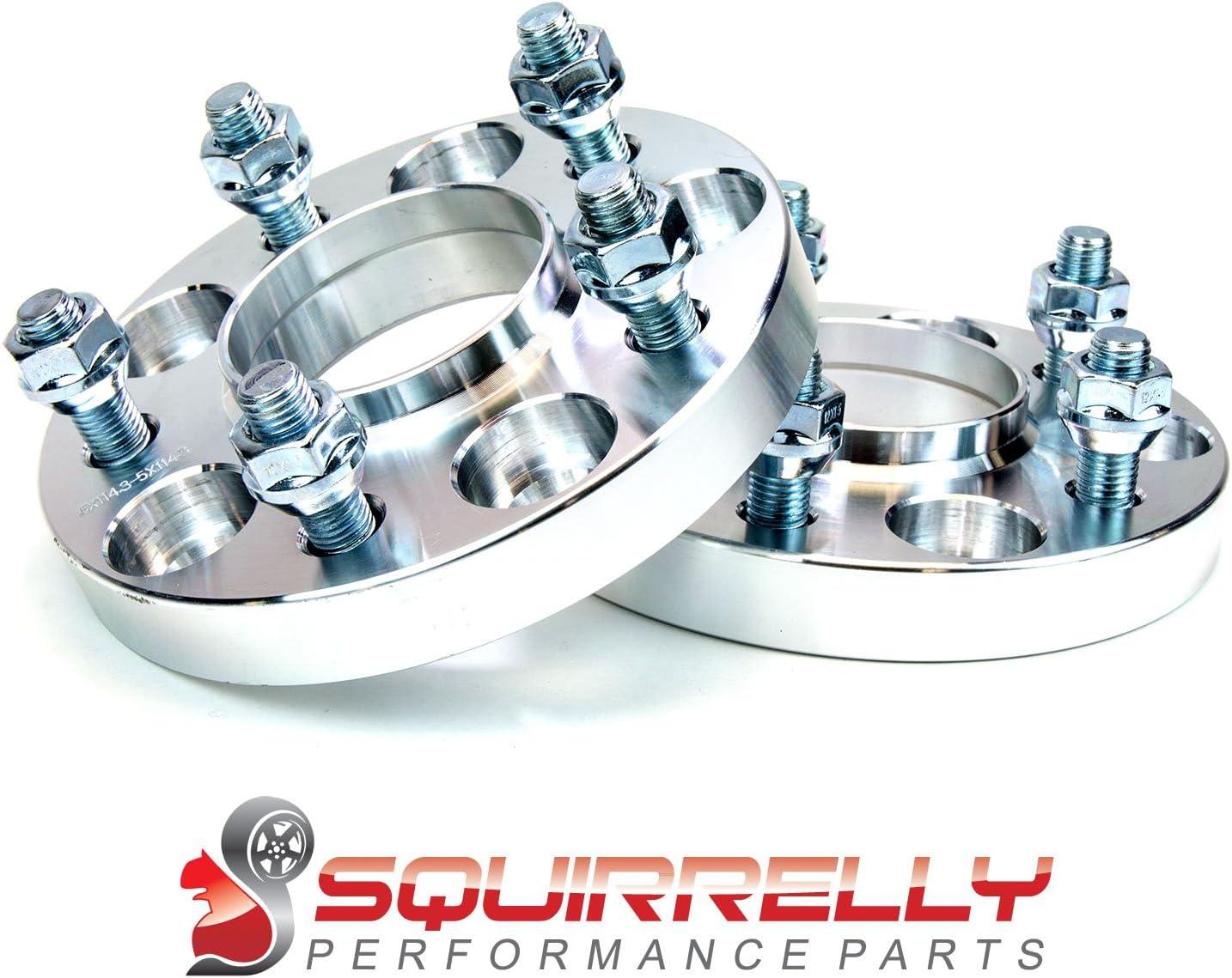 Squirrelly Aluminum Hub-Centric Wheel Spacers