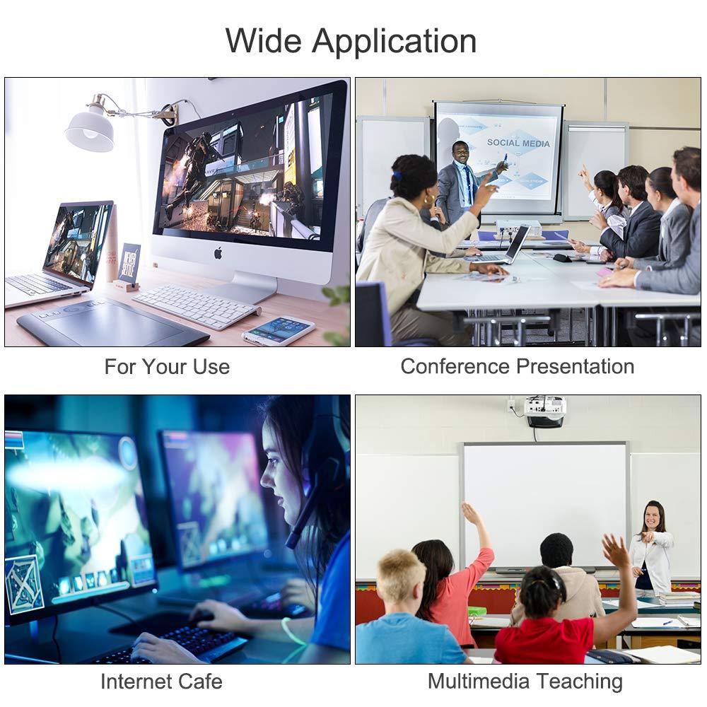 Maschio a Maschio Lemorele Adattatore Mini DisplayPort a HDMI 4K UHD 2m Cavo da Mini DP 1.2 a HDMI Thunderbolt 2 a HDMI Convertitore Audio Video per MacBook Air,Mac Mini,Microsoft Surface PRO 3//4//5