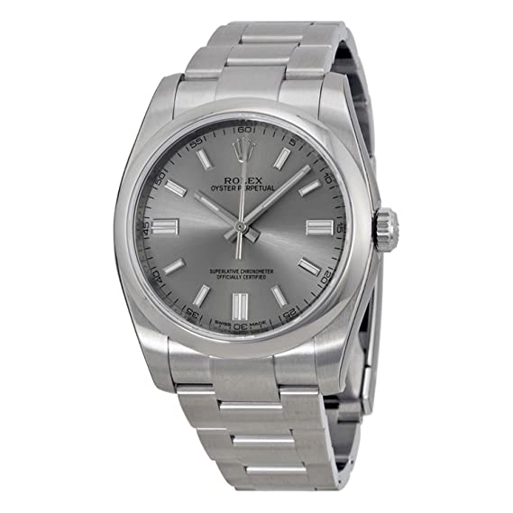 Rolex Ostra Perpetual Rodio Dial Acero inoxidable reloj para hombre 116000rso: Rolex: Amazon.es: Relojes