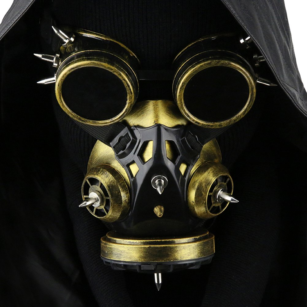 Steampunk Gas Goggles Skeleton Warrior Mask Costume Halloween Party Cosplay Props HIBISCUS MKQ101 MKQ102