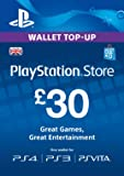 PlayStation PSN Card 30 GBP Wallet Top Up [PSN Download Code - UK account]