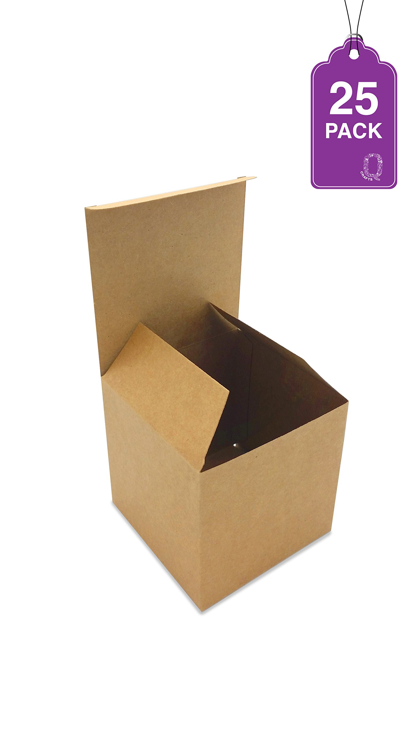 Gift Boxes Brown Kraft 25 Pack 4 x 4 x 4 Great For All Occasions Cupcake boxes, Craft box