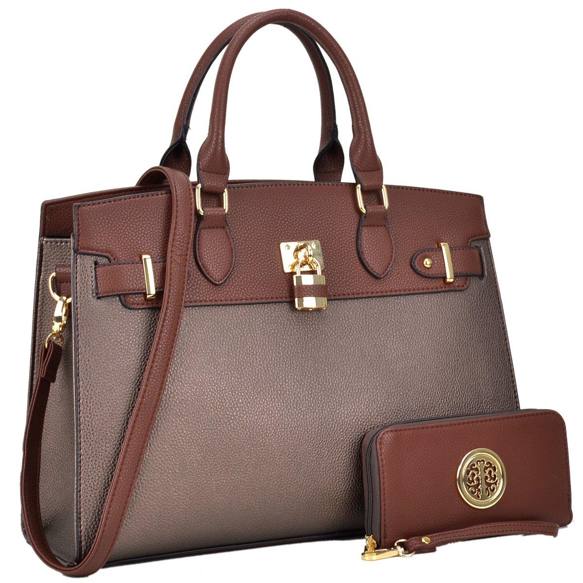 MMK collection Fashion Women Purses and Handbags Ladies Designer Satchel Handbag Tote Bag Shoulder Bags with coin purse (Z-6876-CF)