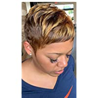 Naseily Short Black Pixie Cuts Hair Wigs African American Short Black Wig Female Hairstyles (NAS-9622)
