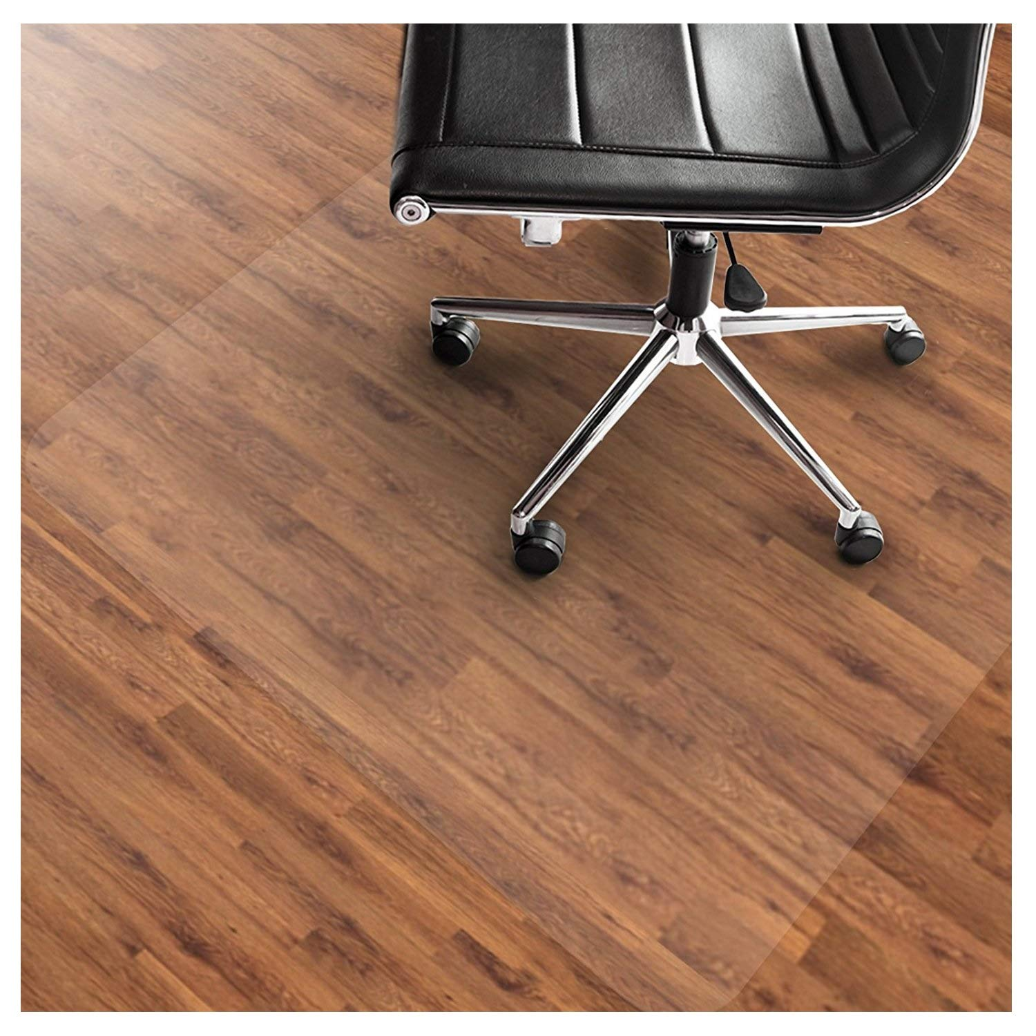 Office Marshal PVC Chair Mat for Hard Floors - 48'' x 60'' | Multiple Sizes Available | Clear, Multi-purpose Floor Protector