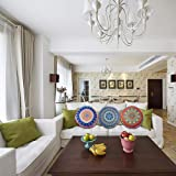 Xchenda Round Pillow Cover Mandala Floor Pillow