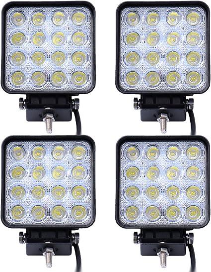 Leetop 4X 48 vatios 16 1616 Offroad LED de luz de la lámpara de ...