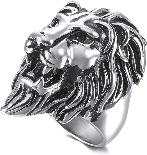 bague argent homme lion
