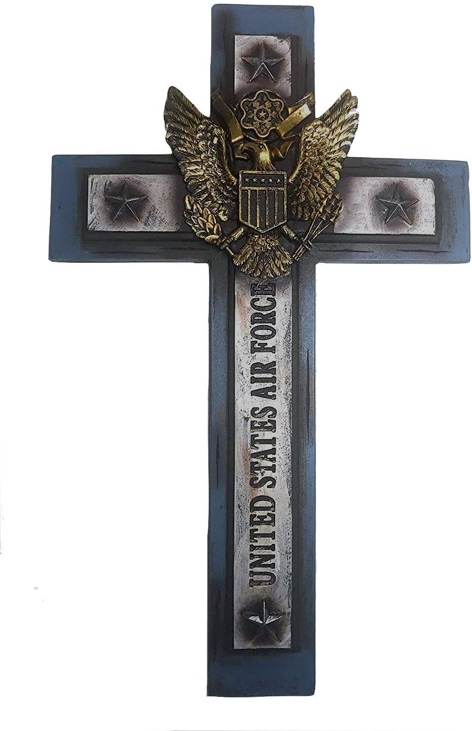 """Polly House United States Airforce Cross 12""""x 7"""" Military Wall Hanging Decor (RA4408)"""