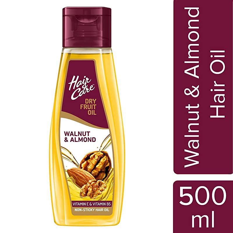 Hair & Care Dry Fruit Oil with Walnut and Almond, 500 ml (Non-Sticky Hair Oil)