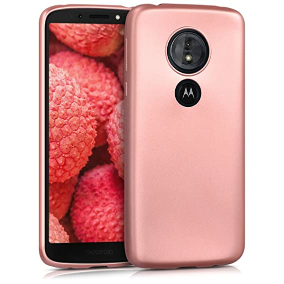a68962c6b79 kwmobile Funda para Motorola Moto G6 Play - Carcasa para móvil en [TPU  Silicona] - Protector [Trasero] en [Oro Rosa Metalizado]: Amazon.com.mx:  Electrónicos