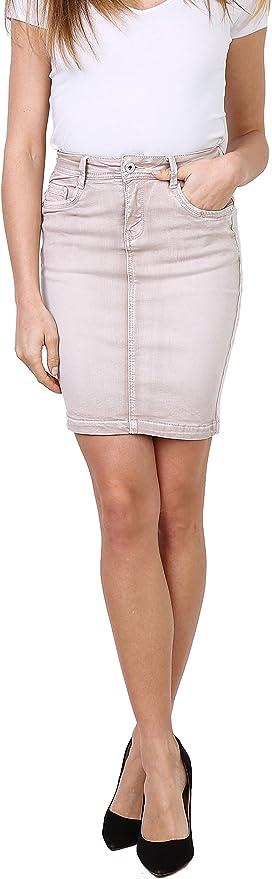 Falda para Mujer Minifalda Vaquera de Verano Corta Stretch Falda ...