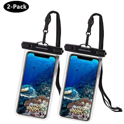 UNBREAKcable Funda Impermeable Universal - Bolsa para móvil estanca a Prueba de Agua IPX8 para iPhone XS MAX/XR/XS/X / 8 / 8plus / 7 Samsung Galaxy ...