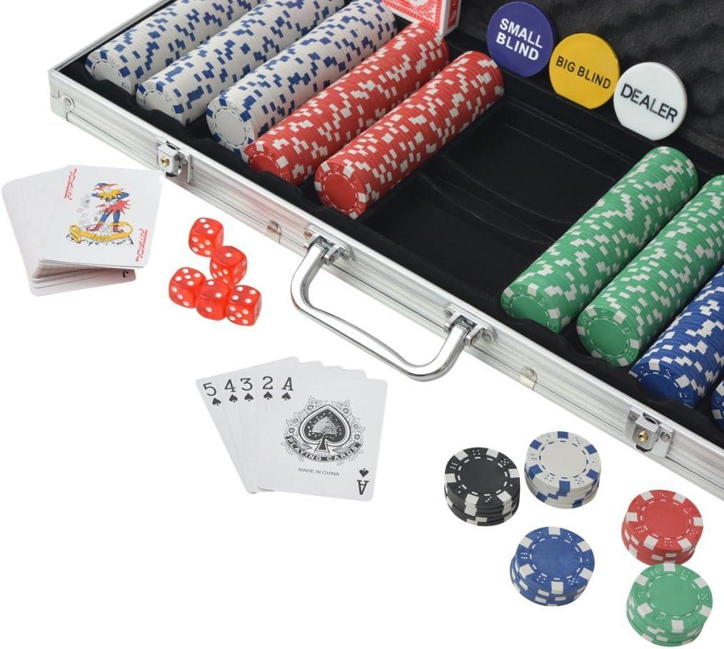 Festnight 500 Pieces Poker Chip Set for Poker Game