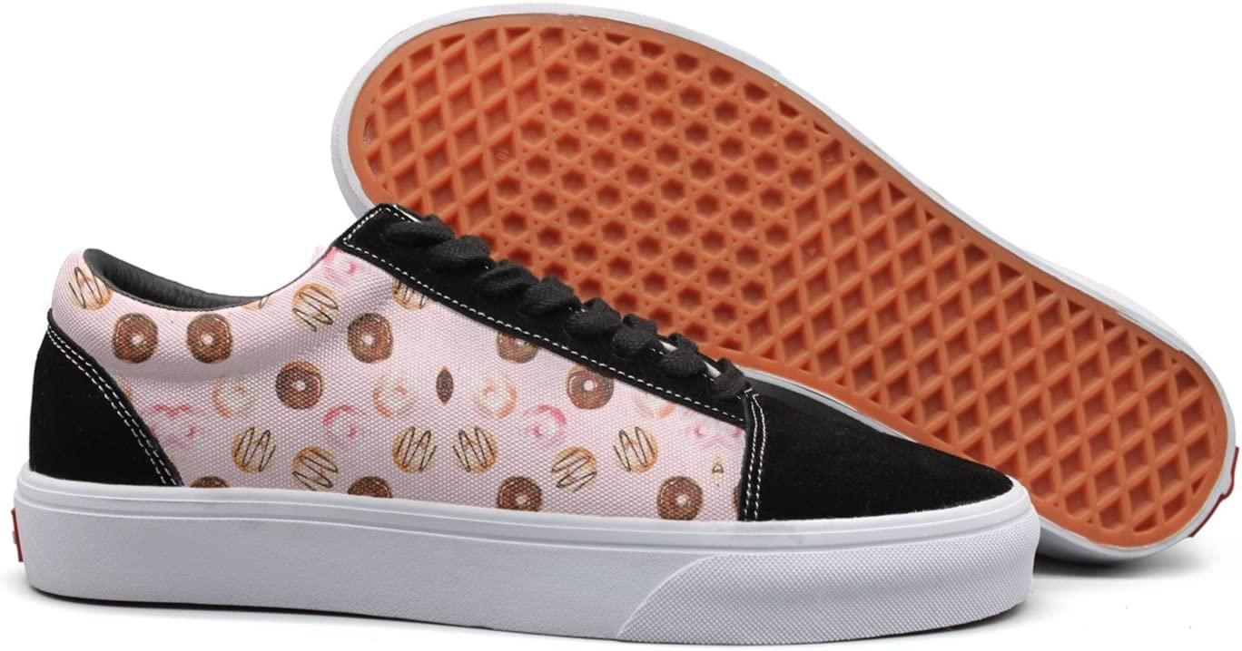 Donut Donuts Women Casual Sneaker Lace Up Shoe