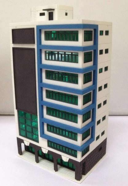 Outland Models Modelleisenbahn hohes Wohnhaus im Stadtstil Spur N