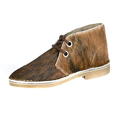 Uwezo Women's Desert Boot Brown & White