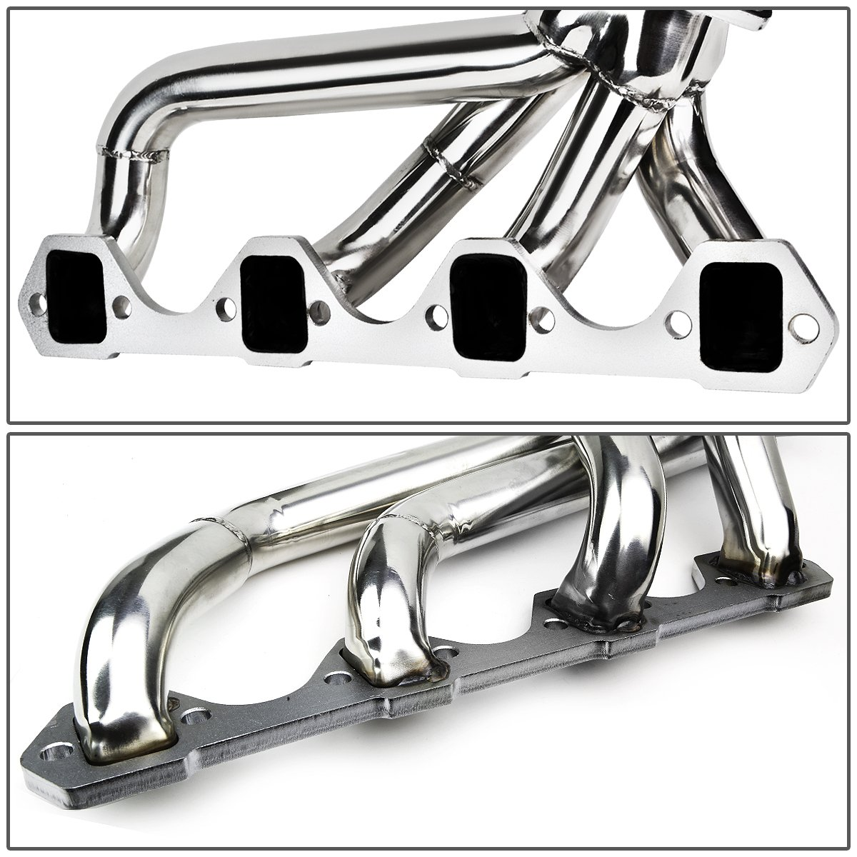 DNA Motoring HDS-FM64-SHORTY Stainless Steel Exhaust Header Manifold