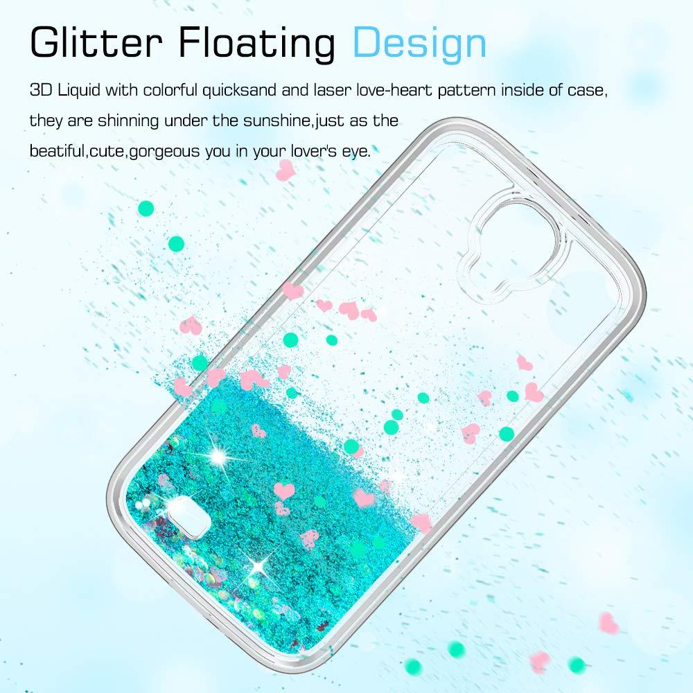 7a0102acf23 LeYi Compatible con Funda Samsung Galaxy S4 Silicona Purpurina Carcasa con HD  Protectores de Pantalla,Transparente Cristal Bumper Telefono Gel TPU Fundas  ...