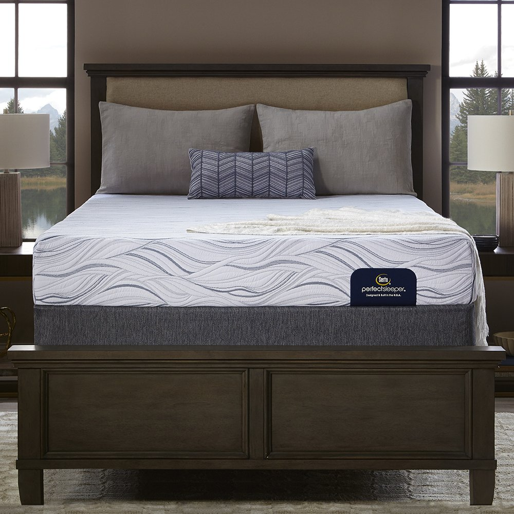 amazon com serta perfect sleeper luxury firm 400 memory foam