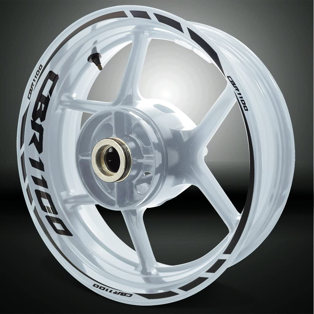 2 Tons Am/éthyste Jante de Moto d/écalcomanies Autocollant Accessoire pour Honda CBR 1100