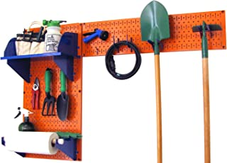 product image for Wall Control Pegboard Garden Supplies Storage and Organization Garden Tool Organizer Kit with Orange Pegboard and Blue Accessories