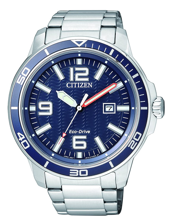 Citizen Herren-Armbanduhr Analog Quarz Edelstahl AW1520-51L