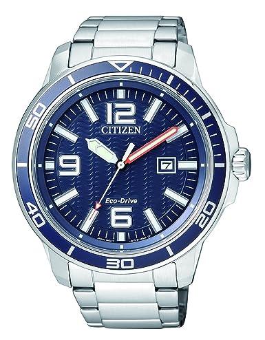Citizen Hombre Reloj de Pulsera analógico Cuarzo Acero Inoxidable aw1520 - 51L: Amazon.es: Relojes