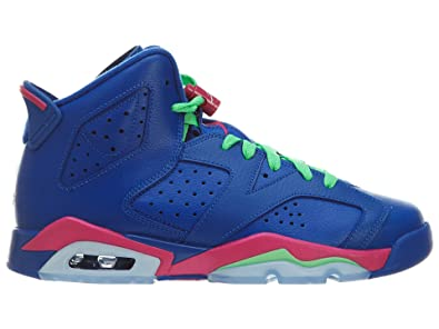 separation shoes 7a6d4 0557f Nike Air Jordan 6 Retro Girls  (GS) Game Royal Vivid Pink