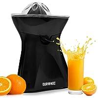 Duronic Citrus Fruit Juicer JE6BK Black 100W Powerful Citrus Press Juicer / Juice Squeezer Extractor with Dripless Spout