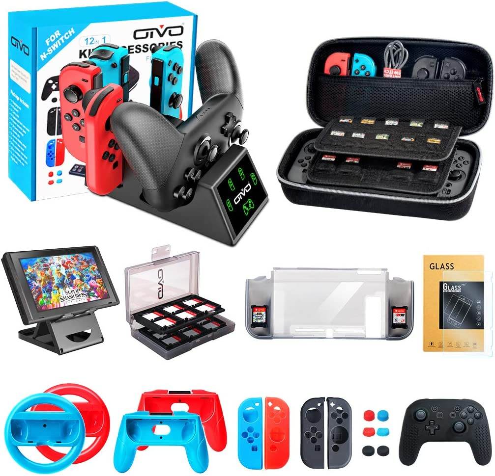 OIVO Kit de Accesorios para Nintendo Switch, 12 en 1 Pack ...