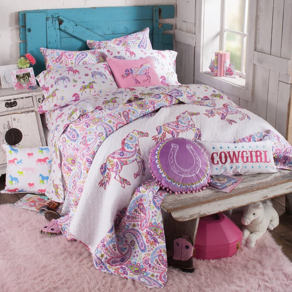 Western Pastel Paisleys Pony Quilt
