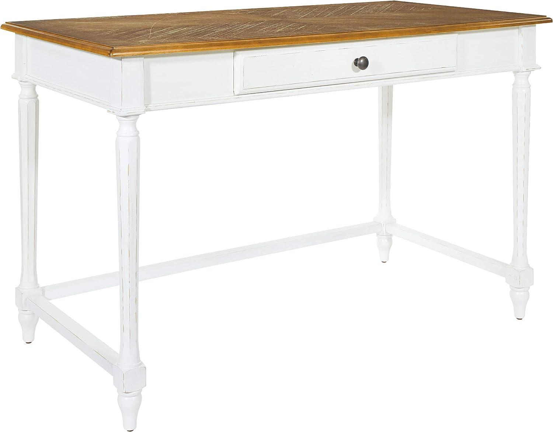 OSP Home Furnishings Medford Writing Desk, Distressed White