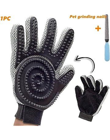 Blu YOOKOO Guanto Spazzola da Massagio Deshedding /& Massaging Tool per Pet con Materiale Premium Silicone per Doccia Bagno di Cane Cura di Cane Gatto da Taglio per Animali da Compagnia Gloves