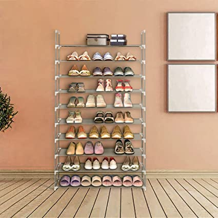 Home Furniture Double Row Of 9 Cells Non-woven Fabrics Simple And Practical Dust-shelves Multi-functional Shoe Rack Cabinet Furniture