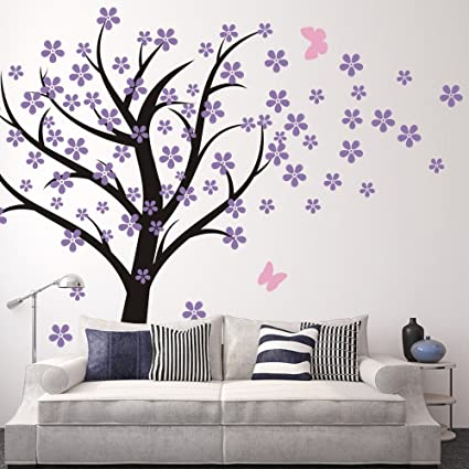 Cherry Blossom Wall Decals Baby Nursery Tree Decals Kids Flower Floral  Nature Wall Decor Wall Art