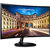 Samsung 23.5 inch (59.8 cm) Curved LED Backlit Computer Monitor - Full HD, VA Panel with VGA, HDMI, Audio Ports - LC24F390FHWXXL (Black)
