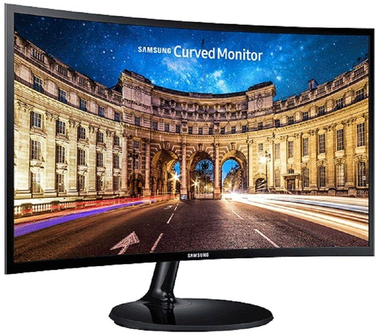 Amazon In Buy Samsung 59 8 Cm 23 5 Inch Curved Led Backlit Computer Monitor Full Hd Va Panel With Vga Hdmi Audio Ports Lc24f390fhwxxl Black Online At Low Prices In India