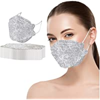 50PCS Adult's Lace Printed Outdoor Prevention Fish Mask Face Masks - Gray