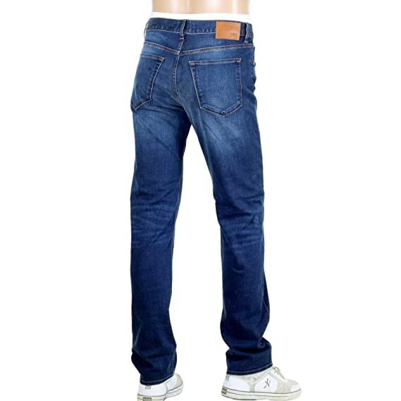 f27cd37d Regular Fit Stretch Denim Hugo Boss Maine 1 Blue jeans BOSS4572: Amazon.co. uk: Clothing